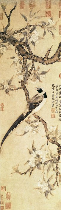 Unknown. Chinese artists of the Middle Ages (佚名 - 梨花山鹊图)