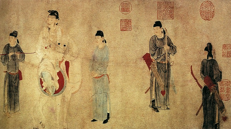 Qian Xuan. Chinese artists of the Middle Ages (钱选 - 杨贵妃上马图)
