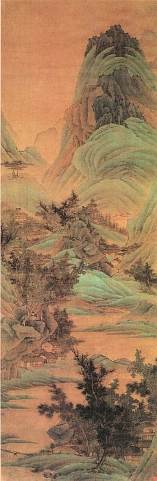 Xie Sun. Chinese artists of the Middle Ages (谢荪 - 青绿山水图)
