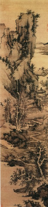 Lan Ying. Chinese artists of the Middle Ages (蓝瑛 - 仿梅道人山水图)