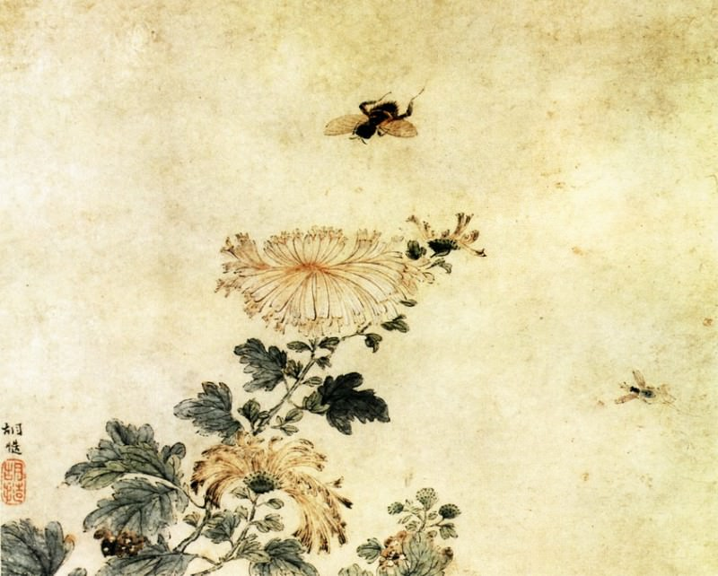 Hu Xing. Chinese artists of the Middle Ages (胡性 - 花鸟图)