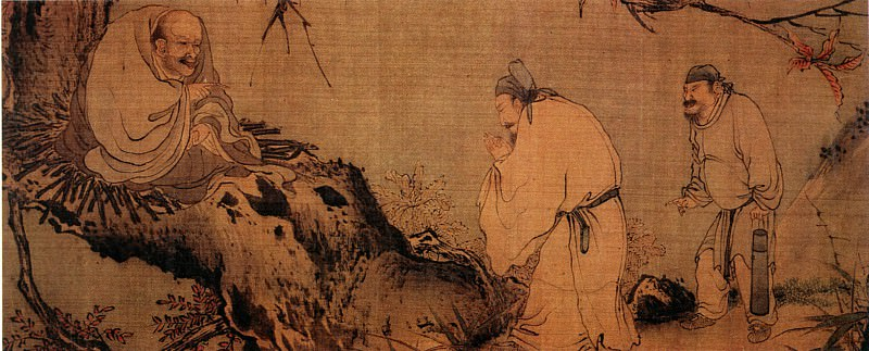 Liang Kai. Chinese artists of the Middle Ages (梁楷 - 八高僧故事图(之一、二、三))