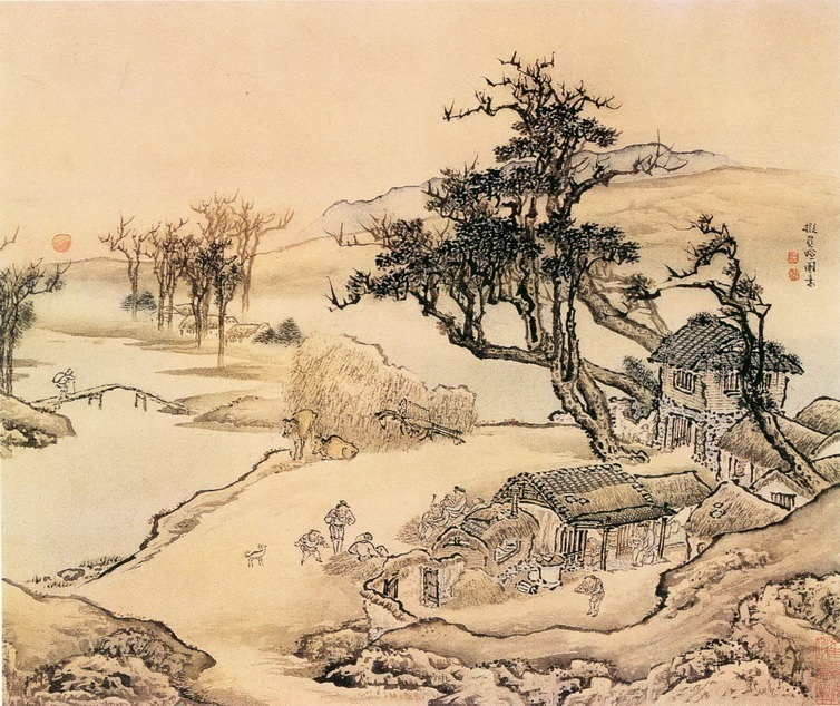 Yuan Yao. Chinese artists of the Middle Ages (袁耀 - 山水图(之一二))