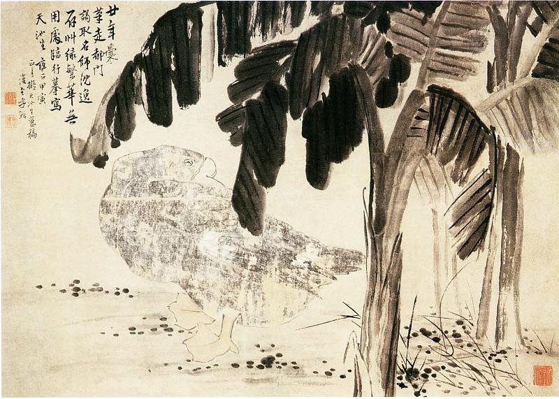 Li Chan. Китайские художники средних веков (李蝉 - 蕉鹅图)