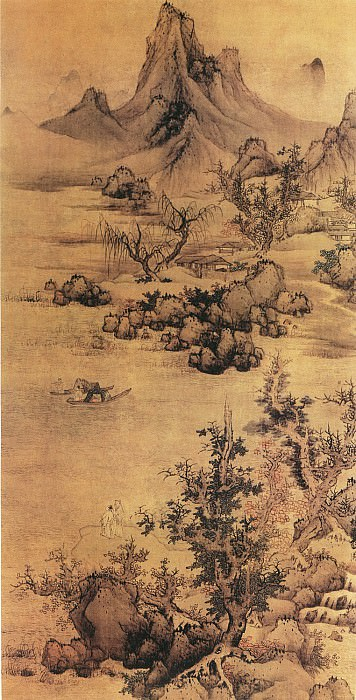 Lan Ying. Chinese artists of the Middle Ages (蓝瑛 - 青绿山水图)