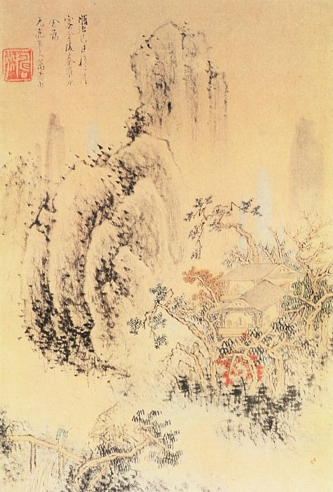 Wanshou Qi. Chinese artists of the Middle Ages (万寿祺 - 山水图)