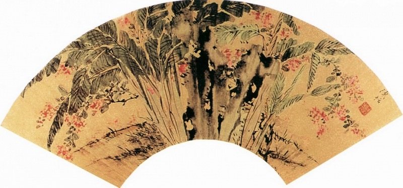 Chen Gua. Chinese artists of the Middle Ages (陈栝 - 芭蕉紫薇图)