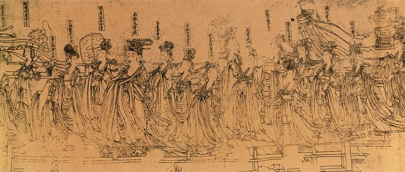 Wu Zongyuan. Chinese artists of the Middle Ages (武宗元 - 朝元仙仗图)
