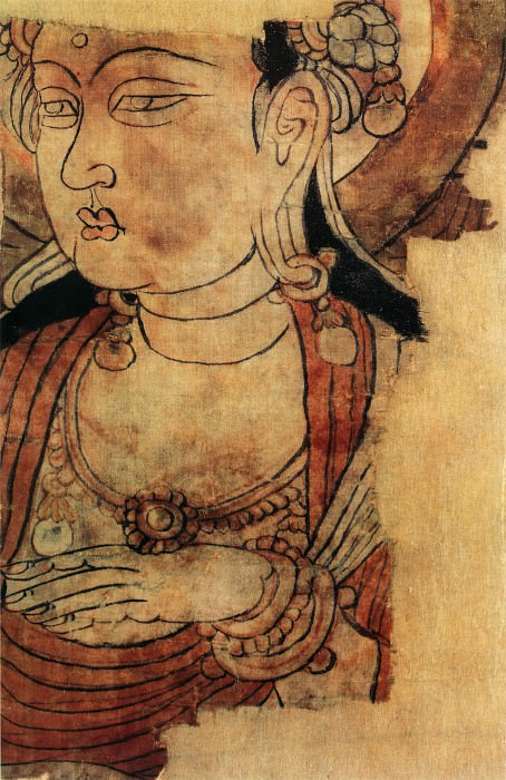 Unknown. Chinese artists of the Middle Ages (佚名 - 菩萨头像)
