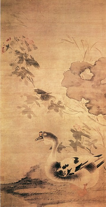 Sun Long. Chinese artists of the Middle Ages (孙龙 - 芙蓉游鹅图)