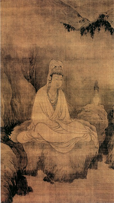 Fa Chang. Chinese artists of the Middle Ages (法常 - 观音图)