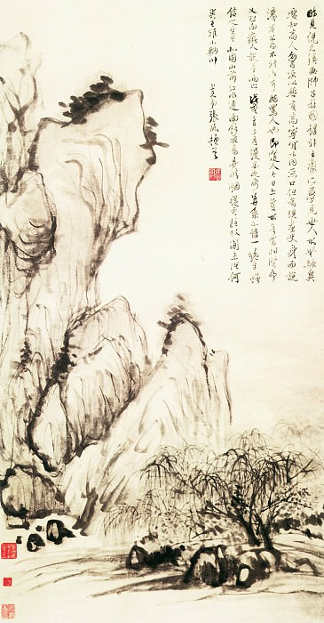 Zhang Feng. Chinese artists of the Middle Ages (张风 - 北固烟柳图)
