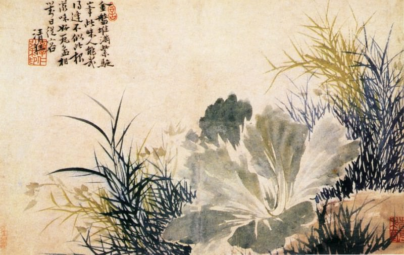 Guo Xu. Chinese artists of the Middle Ages (郭诩 - 杂画图(之一、二))