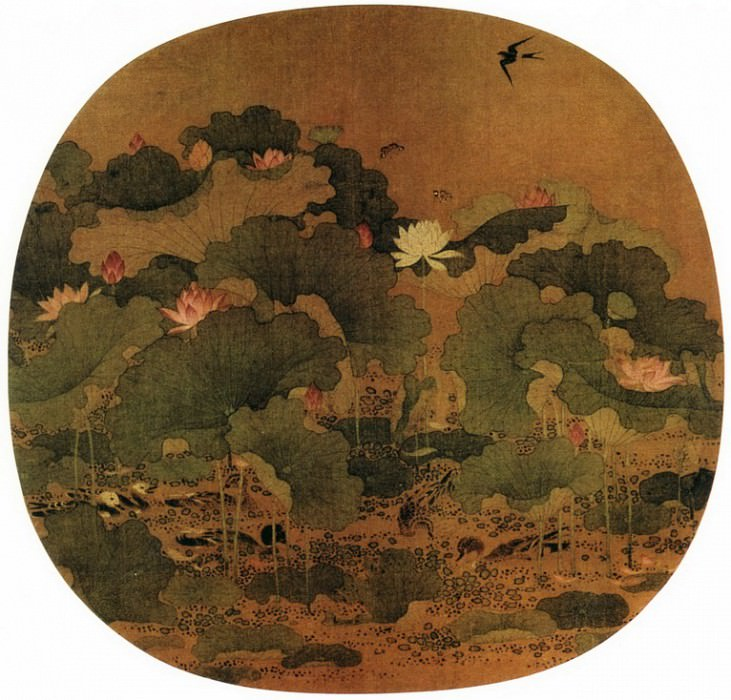 Unknown. Chinese artists of the Middle Ages (佚名 - 太液荷风图)
