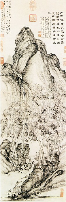 Song Jue. Chinese artists of the Middle Ages (宋珏 - 山楼对雨图)