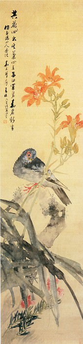 Zhu Pi. Chinese artists of the Middle Ages (朱僻 - 桃花白头图)