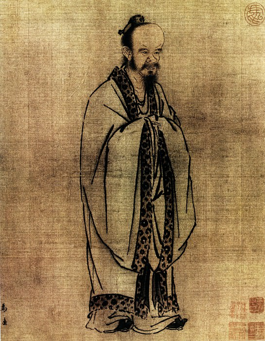 Ma Yuan. Chinese artists of the Middle Ages (马远 - 孔子像)