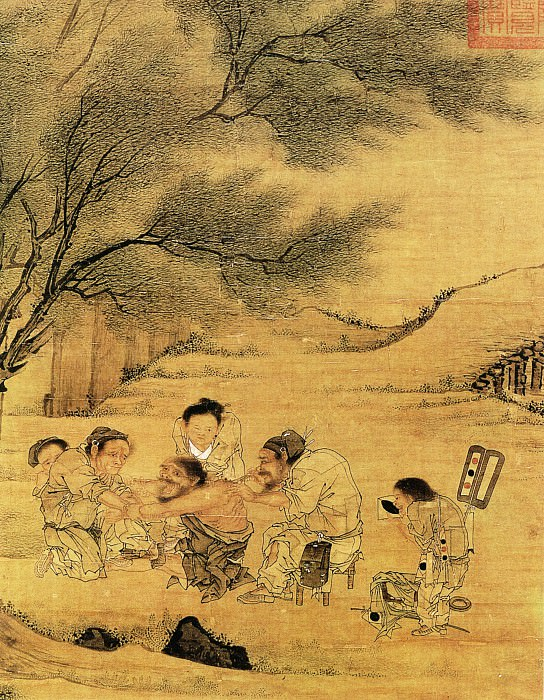 Li Tang. Chinese artists of the Middle Ages (李唐 - 村医图(部分))