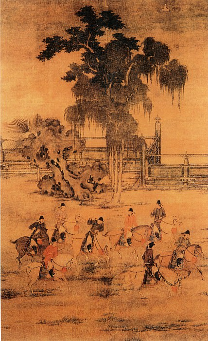 Zhao Shanpin. Chinese artists of the Middle Ages (赵山品 - 八达春游图)
