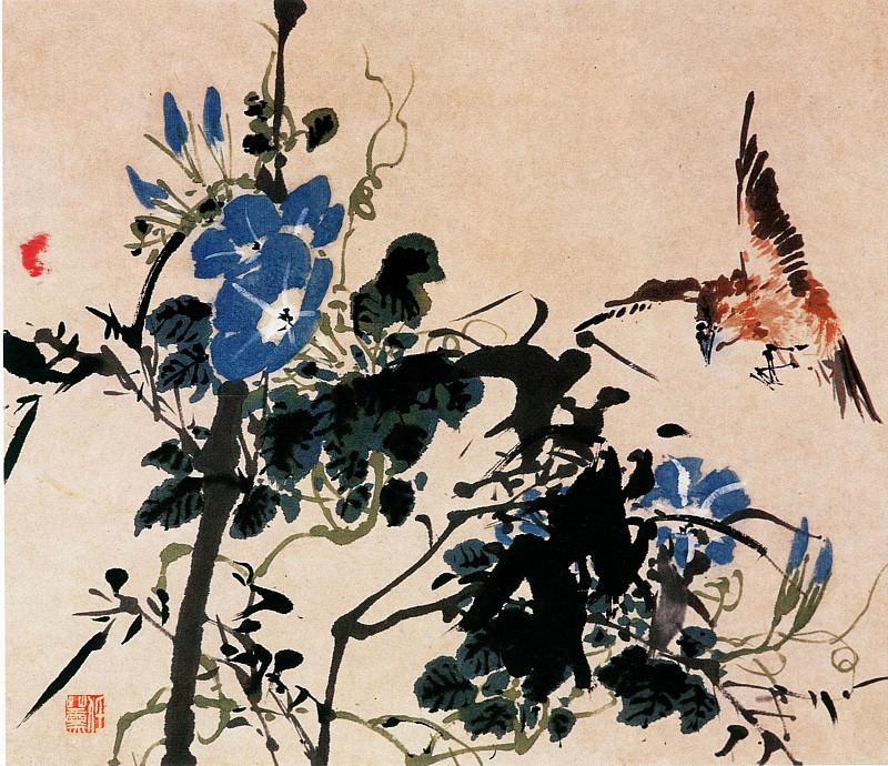 Ren Xun. Китайские художники средних веков (任薰 - 设色花鸟走兽图)