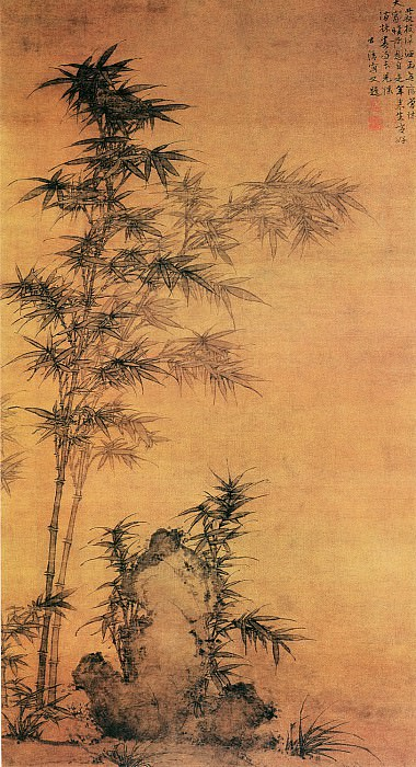 Jin Zhuo. Chinese artists of the Middle Ages (金浞 - 双钩竹图)