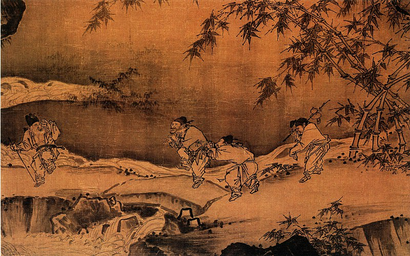 Ma Yuan. Chinese artists of the Middle Ages (马远 - 西园雅集图(部分))