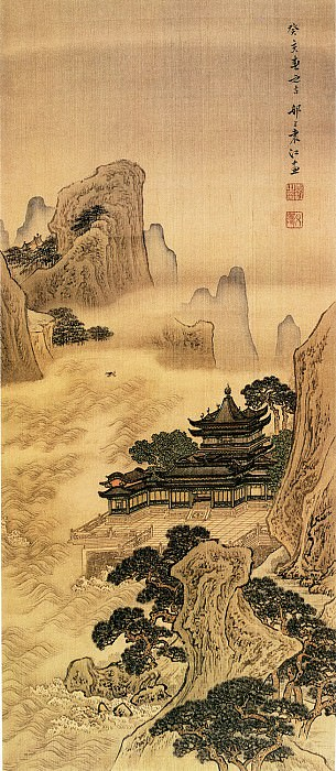 Yuan Jiang. Chinese artists of the Middle Ages (袁江 - 海屋沾筹图)