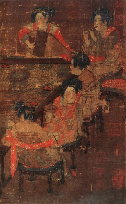 Unknown. Chinese artists of the Middle Ages (佚名 - 宫乐图)