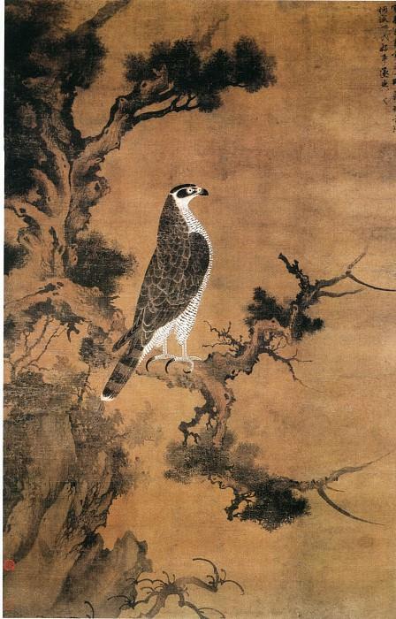 Zhang Shun Weng. Китайские художники средних веков (张舜咨雪界翁 - 鹰桧图)