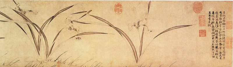 Zhao Meng Jian. Chinese artists of the Middle Ages (赵孟坚 - 水仙图(部分))