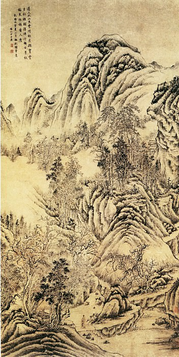 Fang Shishu. Chinese artists of the Middle Ages (方士庶 - 北山古屋图)