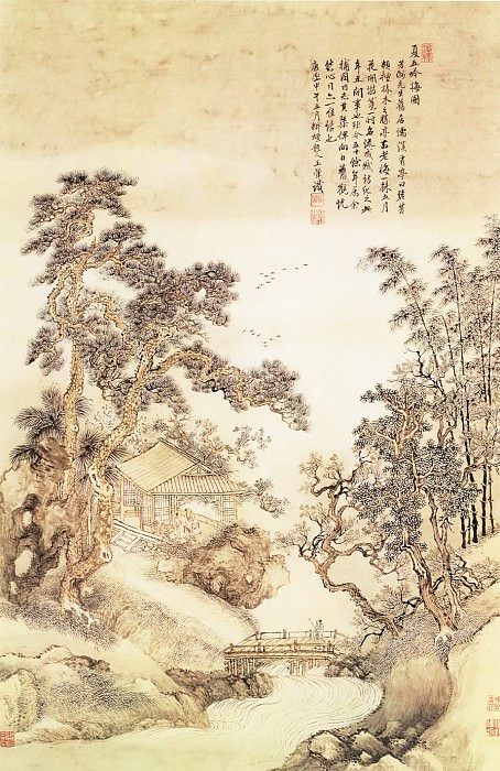 Wang Yun. Chinese artists of the Middle Ages (王晕 - 夏五吟梅图)