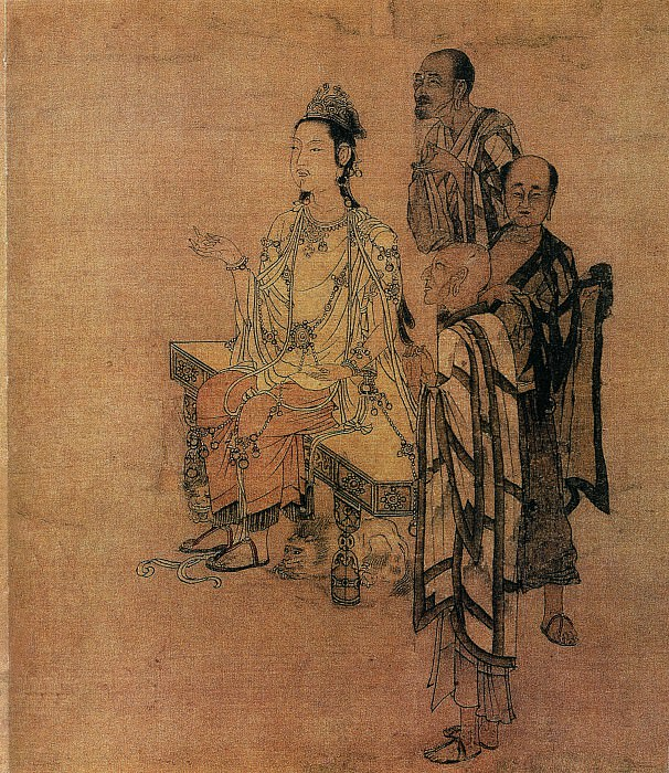 Liu Songnian. Chinese artists of the Middle Ages (刘松年 - 天女献花图)