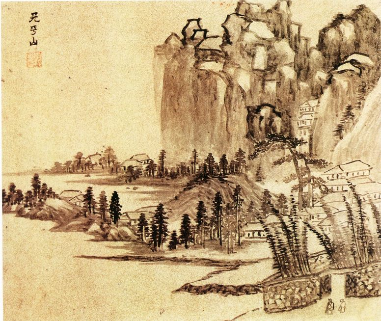Li Liufang. Chinese artists of the Middle Ages (李流芳 - 吴中十景图(之一二))