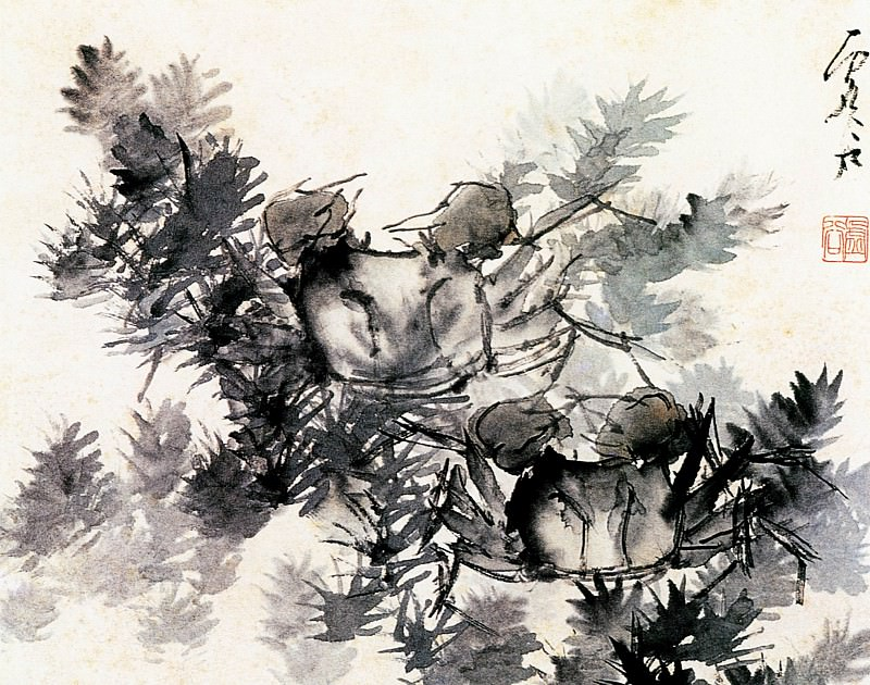 Xu Gu. Chinese artists of the Middle Ages (虚谷 - 花鸟水族图(之一、二、三四))