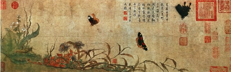 Zhao Chang. Chinese artists of the Middle Ages (赵昌 - 写生蛱蝶图)