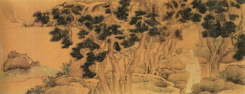 Yu-Zhi Ding. Chinese artists of the Middle Ages (禹之鼎 - 云林同调图)