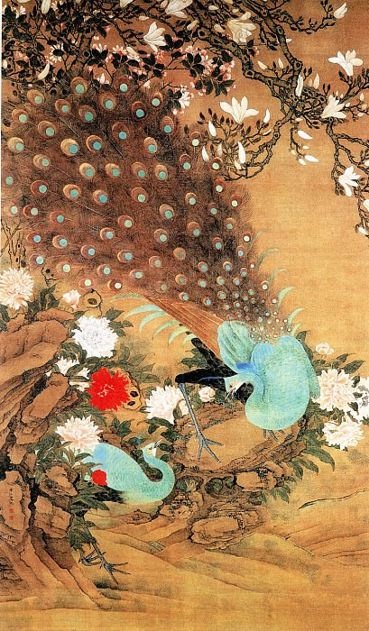 Yu Yuan. Chinese artists of the Middle Ages (虞沅 - 玉堂富贵图)