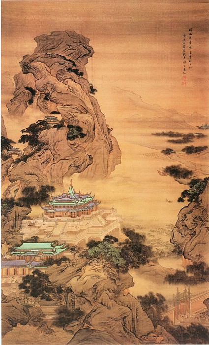 Yuan Jiang. Chinese artists of the Middle Ages (袁江 - 骊山避暑图)