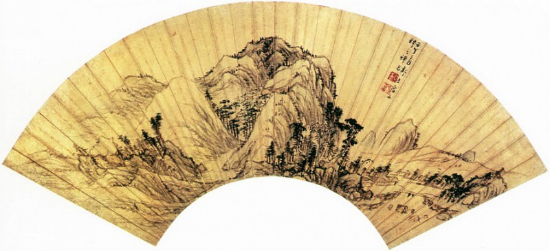 Zou Jie. Chinese artists of the Middle Ages (邹拮 - 崇山萧寺图)