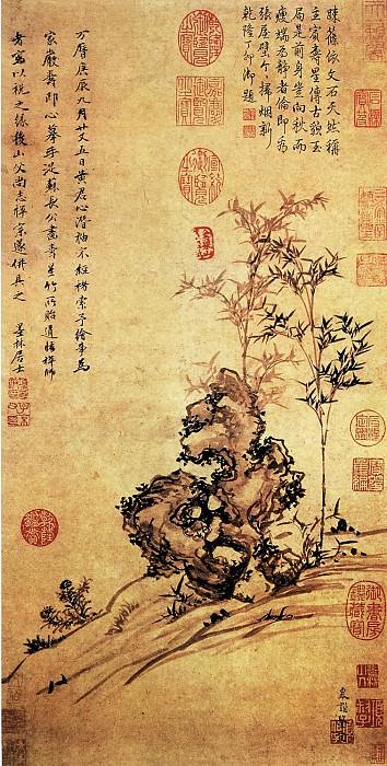 Xiang of Yuan Bian. Китайские художники средних веков (项元汴 - 仿苏轼寿星竹图)