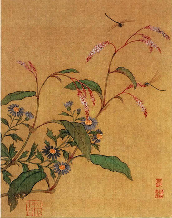 Ma Quan. Chinese artists of the Middle Ages (马荃 - 花卉草虫图(之—、二))