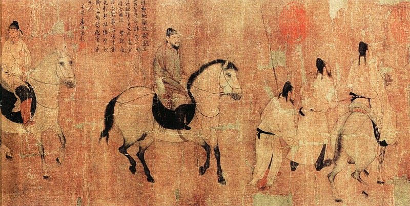 Unknown. Chinese artists of the Middle Ages (佚名 - 游骑图)