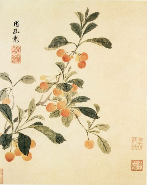 Xiang Sheng Mo. Chinese artists of the Middle Ages (项圣谟 - 花卉图(之一、二))