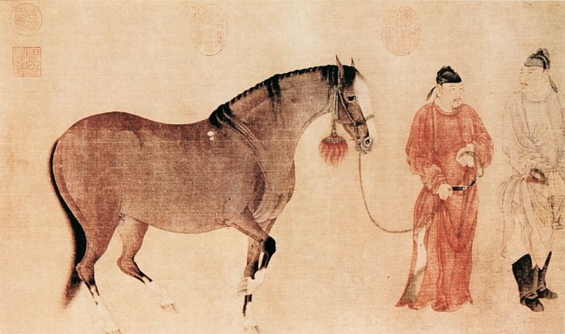 Ren Renfa. Chinese artists of the Middle Ages (任仁发 - 人马图(部分))