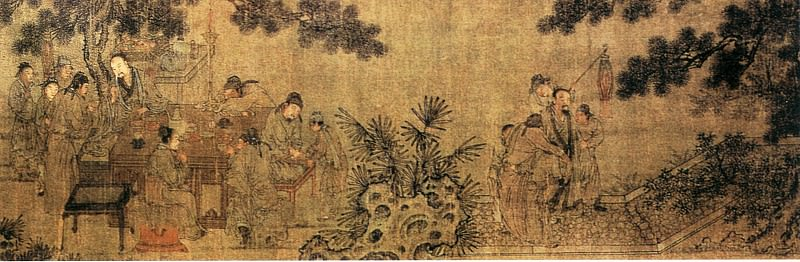 Unknown. Chinese artists of the Middle Ages (佚名 - 夜宴图(之一、二))