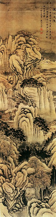 Wen Ke. Chinese artists of the Middle Ages (文柯 - 寒江渔隐图)
