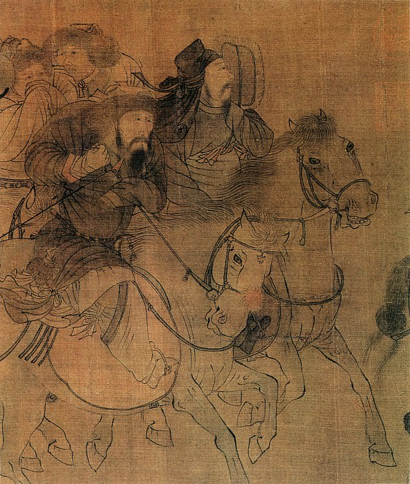 Zhang Ju. Chinese artists of the Middle Ages (张踽 - 文姬归汉图)