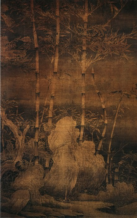 Xu Xi. Chinese artists of the Middle Ages (徐熙 - 雪竹图)