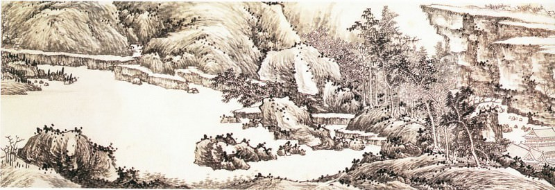 Gao Cen. Chinese artists of the Middle Ages (高岑 - 江山千里图)